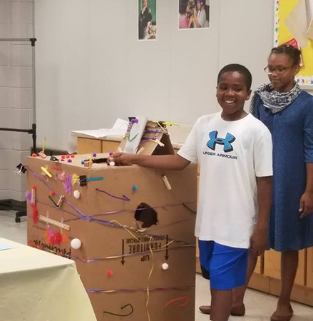Campers present their creative products at Entrepreneurship Camp held at SCC