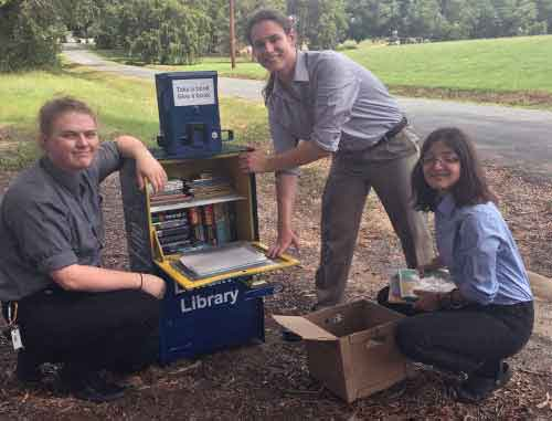 Lending Library with students