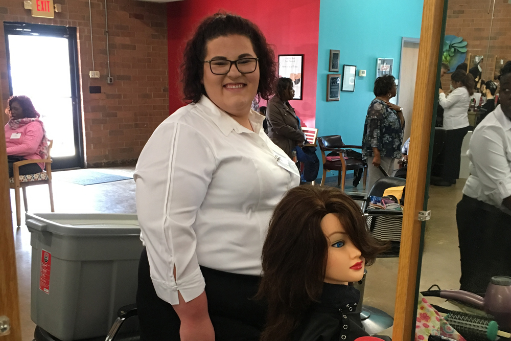 Abigail Helms, 1st place winner Cosmetology Competition
