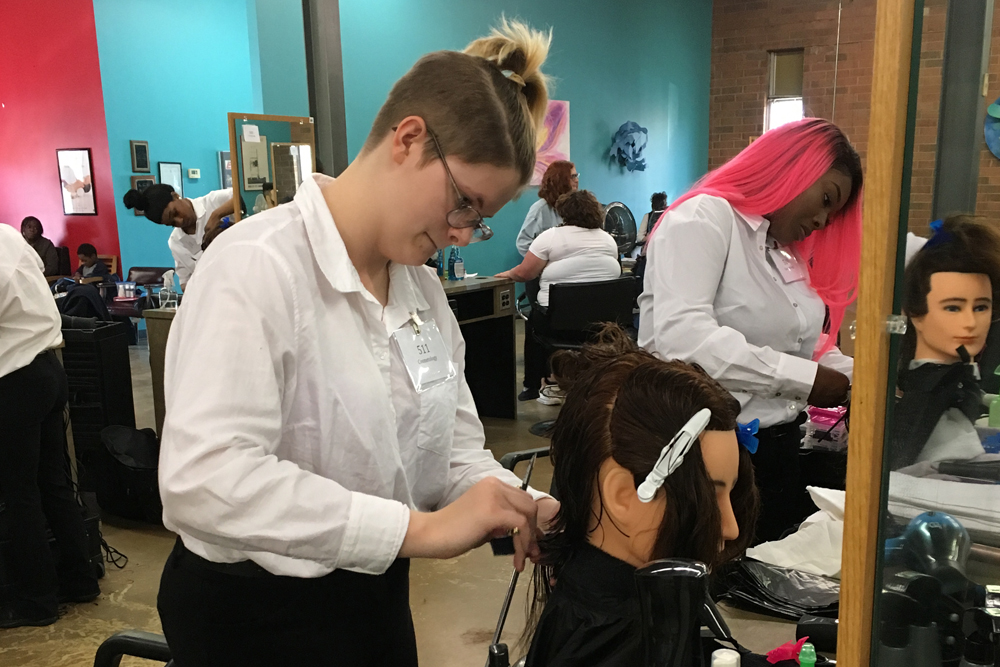 Amber Ivester 3rd place winner Cosmetology Competition