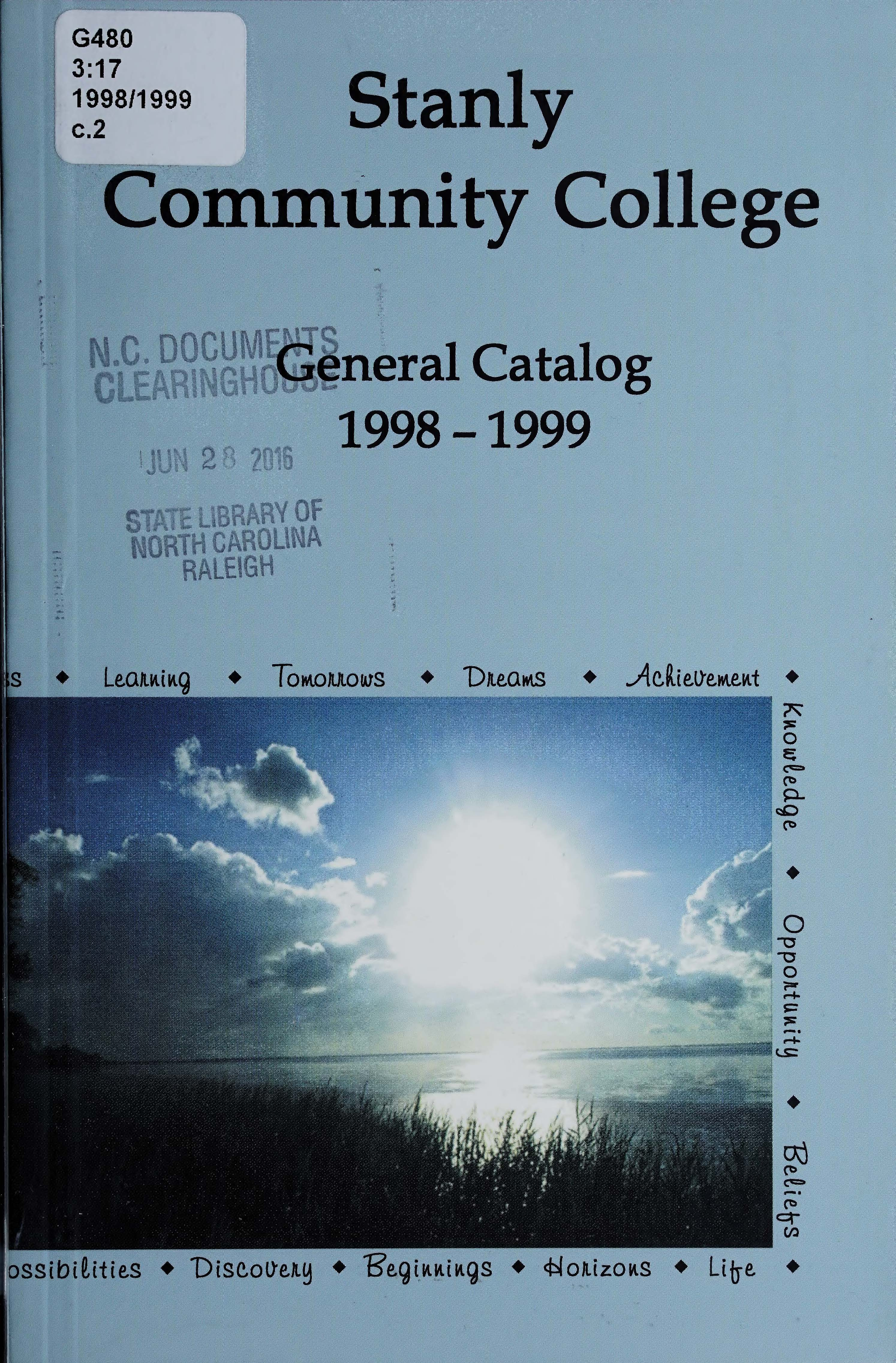 Catalog of Record 1998-1999