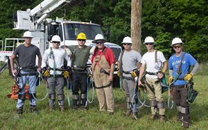 SCC Students Complete Electrical Lineworker Training